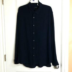 Vince Slim Fit XL Navy Shirt